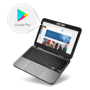 chromebook with google play logo