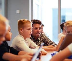 teacher pupil classroom