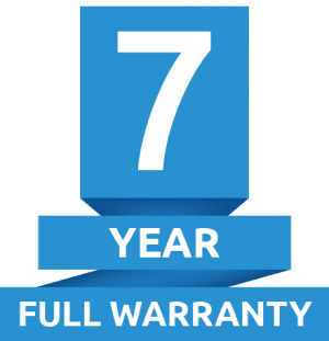 7 year warranty logo